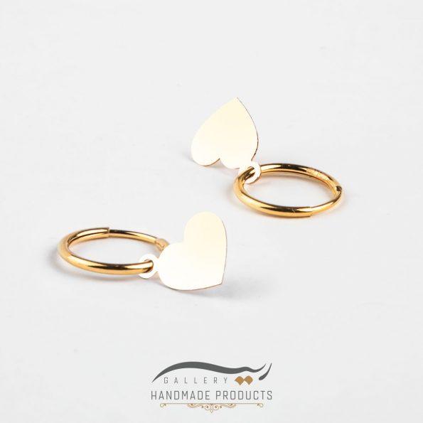 عکس گوشواره طلا زنانه قلب