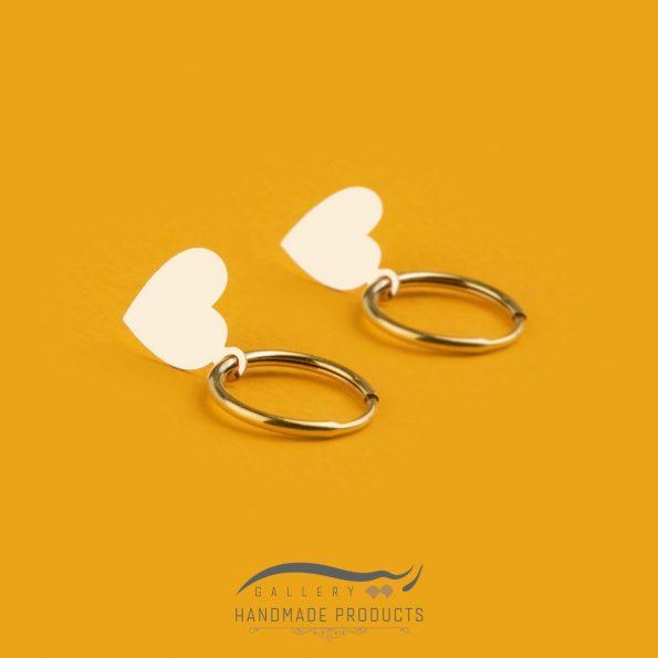 عکس گوشواره طلا زنانه قلبمدل گوشواره طلا زنانه قلب ریسه گالری