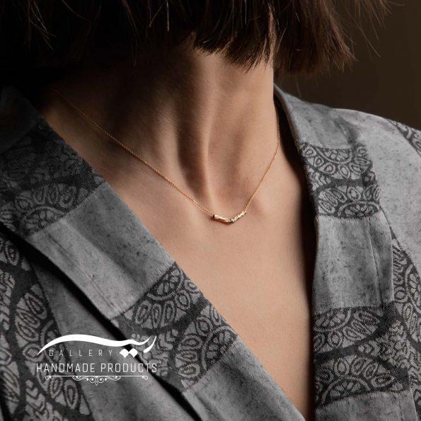 گردنبند طلا زنانه بلا زیورآلات ریسه گالری