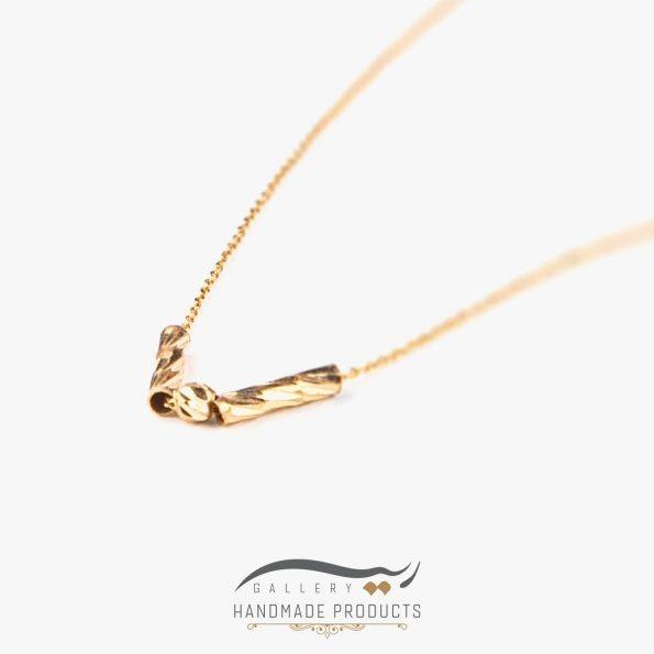 گردنبند طلا زنانه بلا زیورآلات دست ساز ریسه گالری