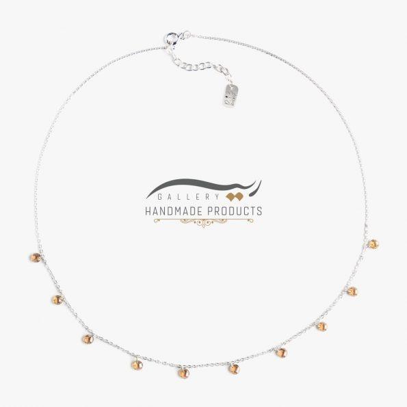 گردنبند نقره زنانه دارلین فروشگاه اینترنتی زیورآلات دست ساز ریسه گالری