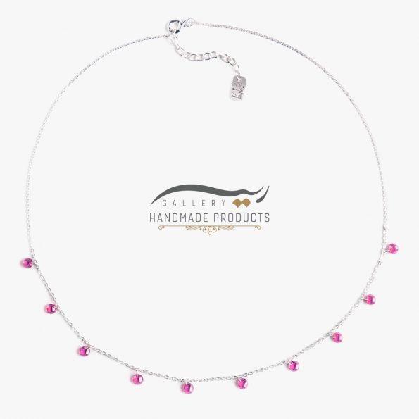 گردنبند نقره زنانه پرنسس فروشگاه اینترنتی زیورآلات دست ساز ریسه گالری