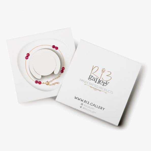 بسته بندی دستبند طلا زنانه اشرافی ریسه گالری