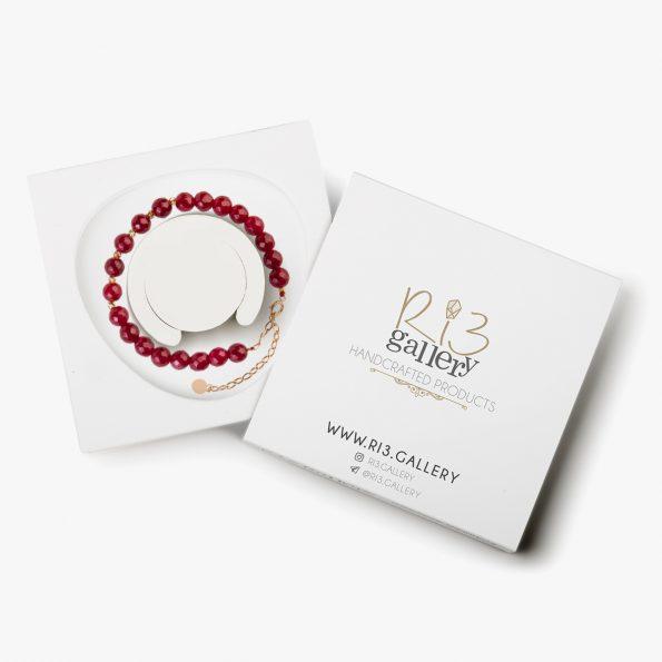عکس بسته بندی دستبند طلا زنانه گلوریا