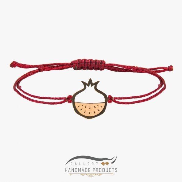دستبند طلا زنانه انار سرخ