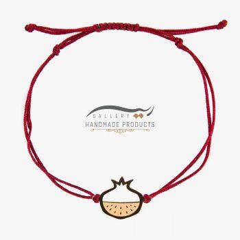 عکس دستبند طلا زنانه انار سرخ
