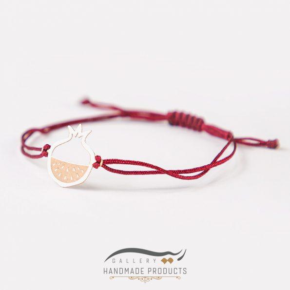 عکس دستبند طلا زنانه انار سرخ ریسه گالری
