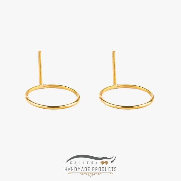 گوشواره طلا زنانه خورشیدی