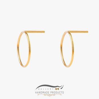 عکس گوشواره طلا زنانه خورشیدی