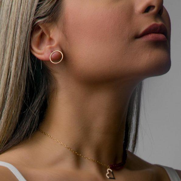مدل گوشواره طلا زنانه خورشیدی