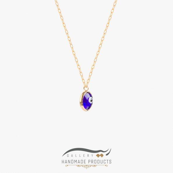 عکس گردنبند طلا زنانه چشم آبی