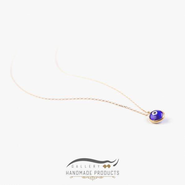 عکس گردنبند طلا زنانه چشم آبی ریسه گالری