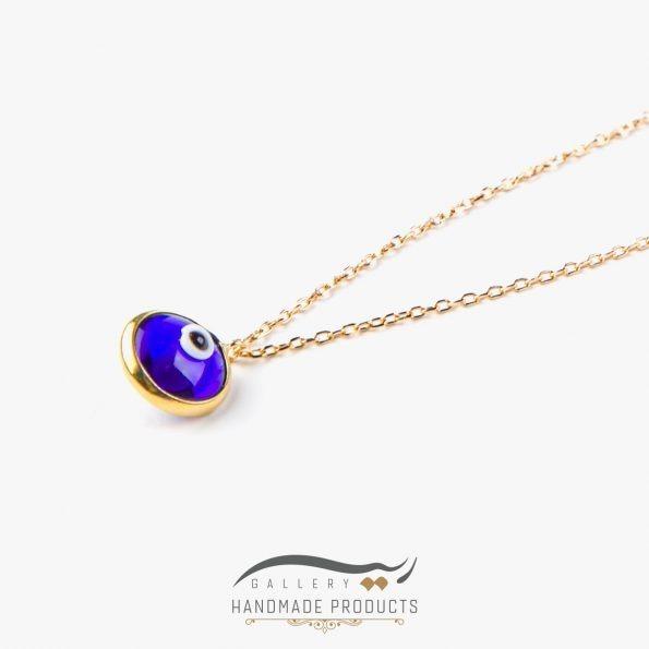 عکس گردنبند طلا زنانه چشم آبی زیورآلات دست ساز ریسه گالری