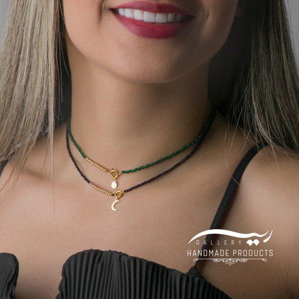 مدل گردنبند طلا زنانه ماه