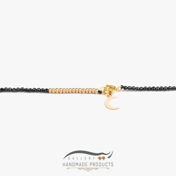 عکس گردنبند طلا زنانه ماه زیورآلات دست ساز ریسه گالری