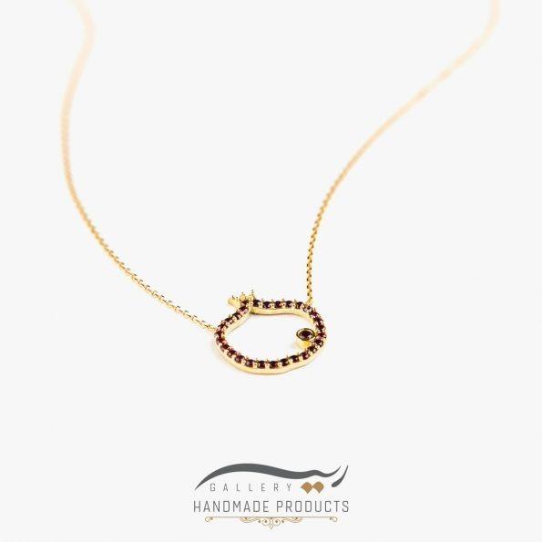 عکس گردنبند طلا زنانه نارون ریسه گالری