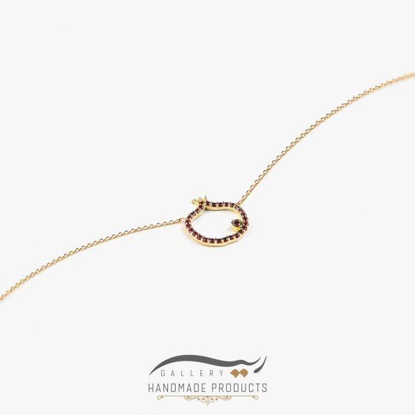 عکس گردنبند طلا زنانه نارون زیورآلات دست ساز ریسه گالری