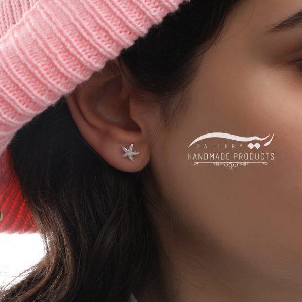 مدل گوشواره نقره زنانه ستاره