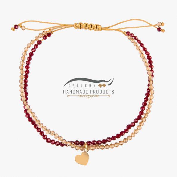 دستبند طلا زنانه لیدی هارت