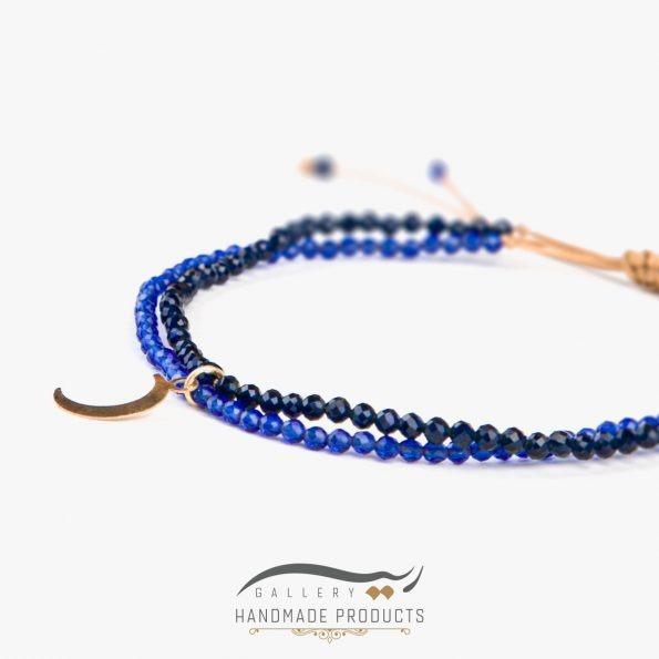 عکس دستبند طلا زنانه لیدی مون ریسه گالری