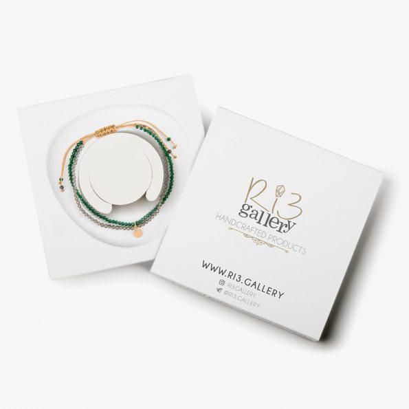 بسته بندی دستبند طلا زنانه لیدی کویین