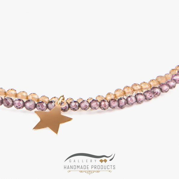 عکس دستبند طلا زنانه لیدی استار