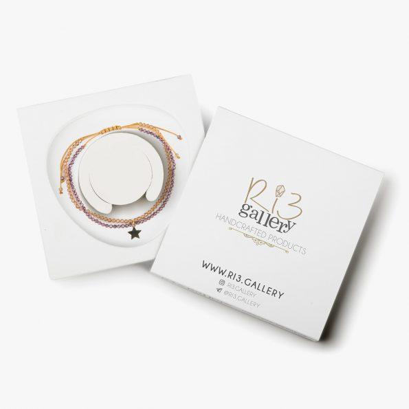 بسته بندی دستبند طلا زنانه لیدی استار