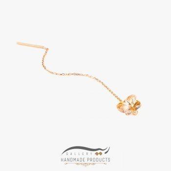 عکس گوشواره طلا زنانه پروانه شامپاینی