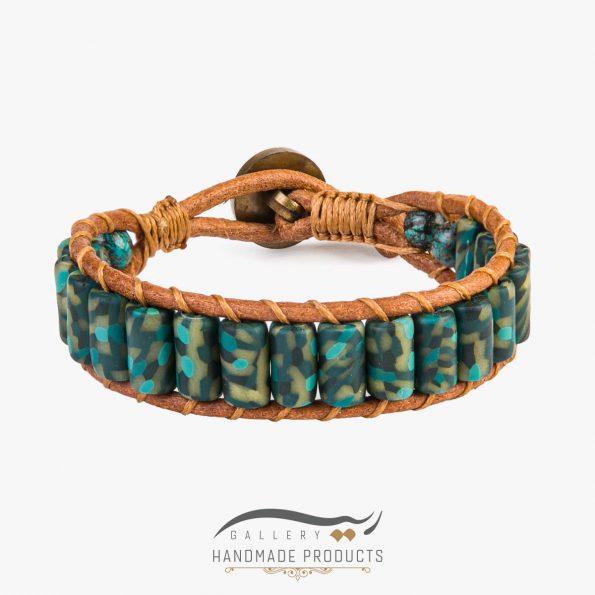 دستبند چرم مردانه آرمی