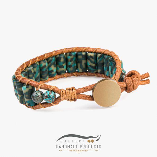 جدیدترین عکس دستبند چرم مردانه آرمی