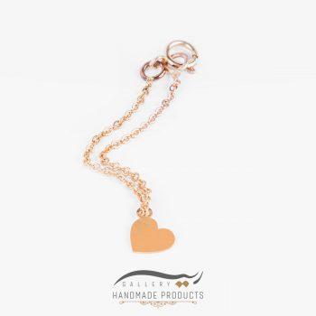 عکس آویز ساعت طلا زنانه قلب