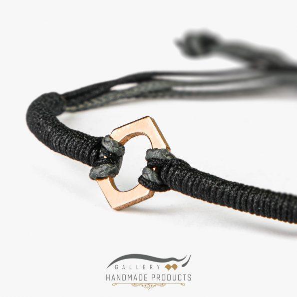 تصویر دستبند طلا مردانه شش ضلعی