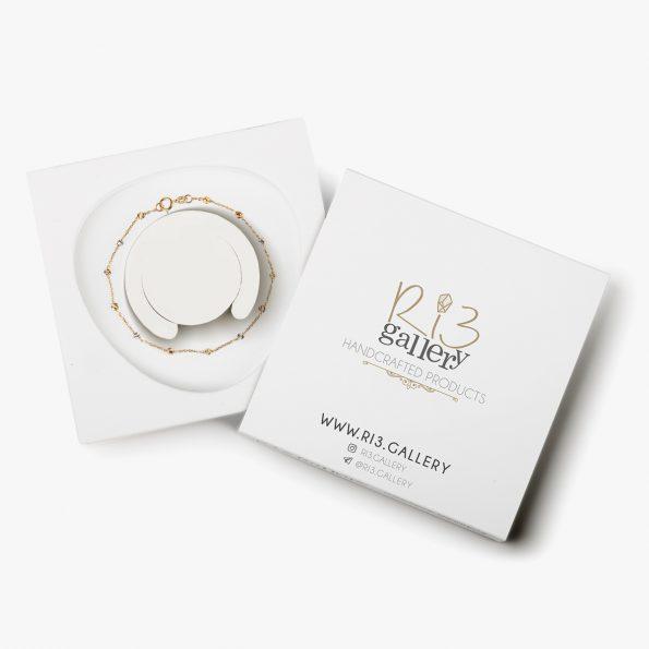 بسته بندی دستبند طلا زنانه برناردو