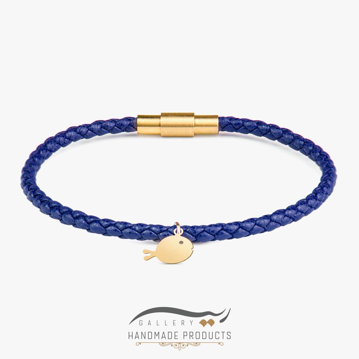 دستبند طلا زنانه ماهی آبی