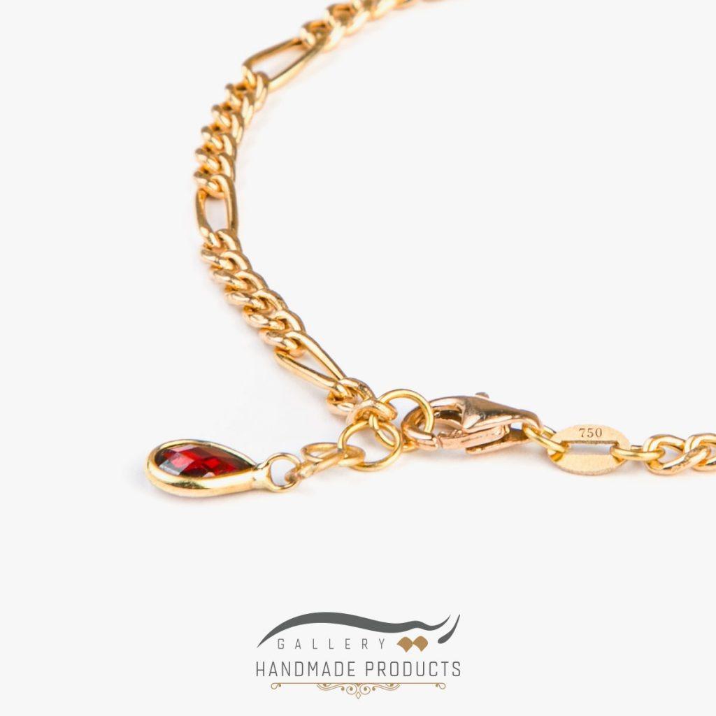 جدیدترین دستبند طلا زنانه فیگارو