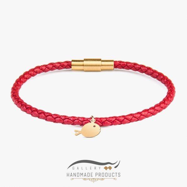 دستبند طلا زنانه ماهی گلی