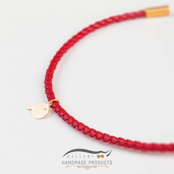 تصویر دستبند طلا زنانه ماهی گلی