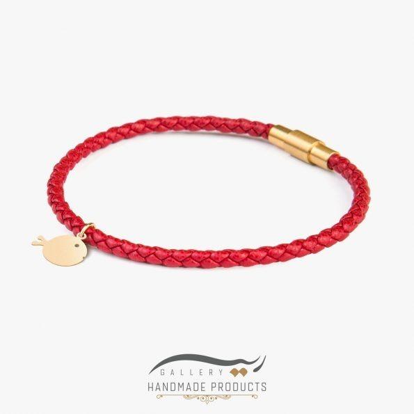 جدیدترین دستبند طلا زنانه ماهی گلی