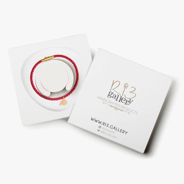 بسته بندی دستبند طلا زنانه ماهی گلی