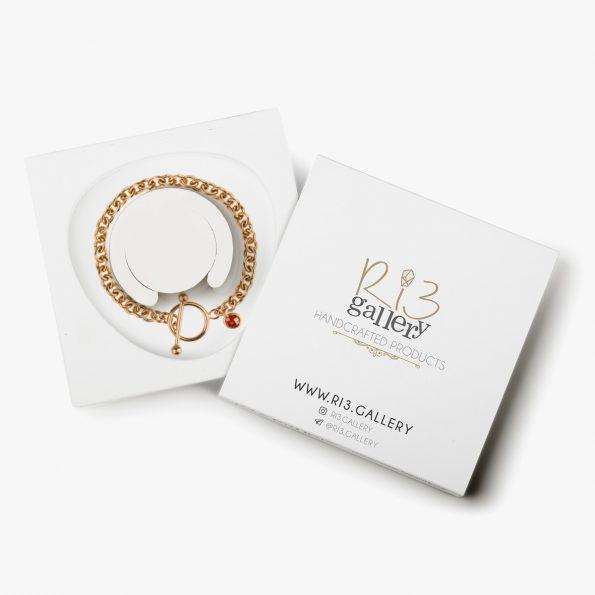 بسته بندی دستبند طلا زنانه رولو