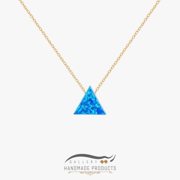 گردنبند طلا زنانه اوپال مثلث