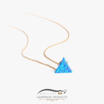 عکس گردنبند طلا زنانه اوپال مثلث
