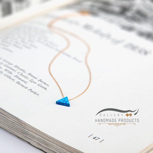 مدل گردنبند طلا زنانه اوپال مثلث