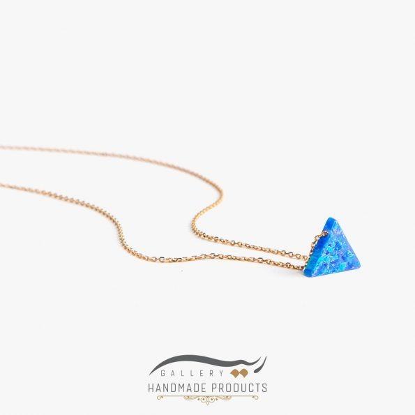 جدیدترین مدل گردنبند طلا زنانه اوپال مثلث