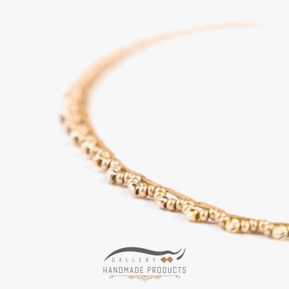 تصویر پابند طلا زنانه مانیکا