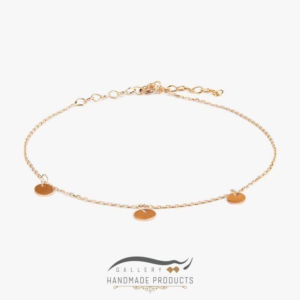 پابند طلا زنانه پولکی