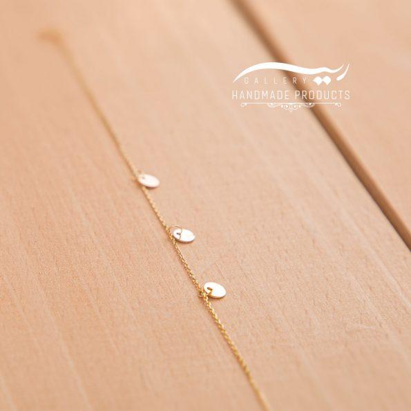 تصویر پابند طلا زنانه پولکی