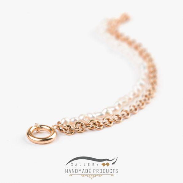 جدیدترین عکس دستبند طلا زنانه رولو مروارید ریسه گالری