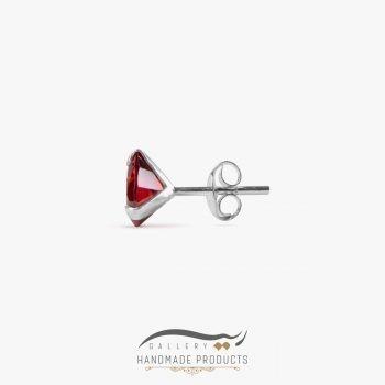 عکس گوشواره نقره زنانه مثلثی قرمز