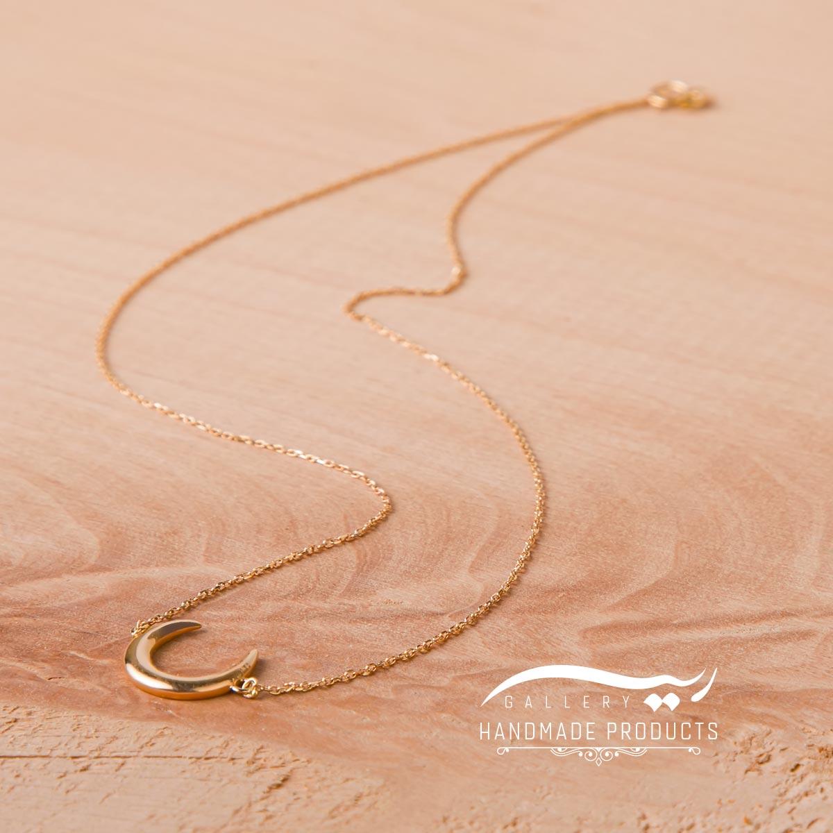 جدیدترین عکس گردنبند طلا زنانه لونا